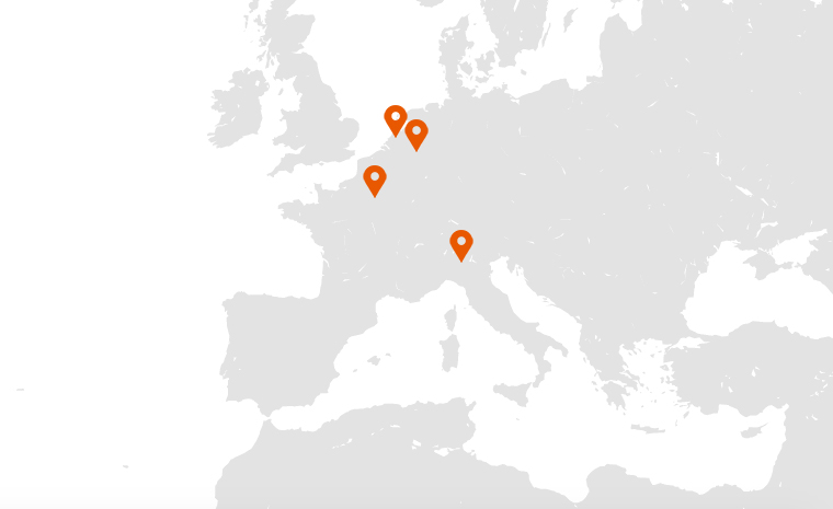 Locations in Europe